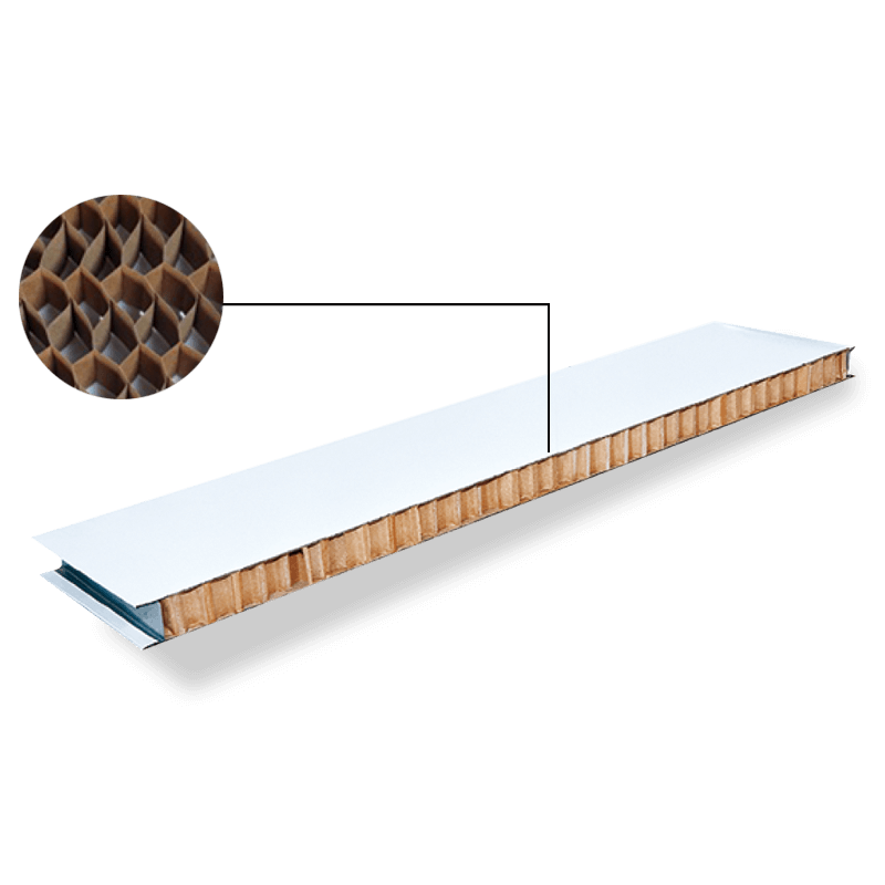 Machine made paper honeycomb sandwich panel