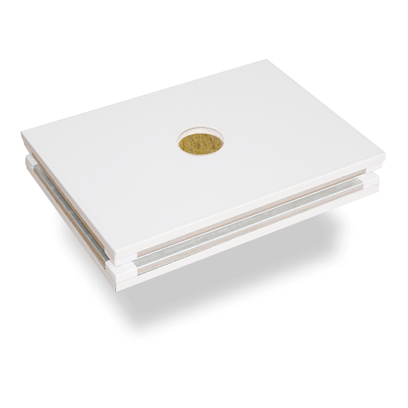 Hand made rock wool sandwich panel with double layer magnesium oxide boards