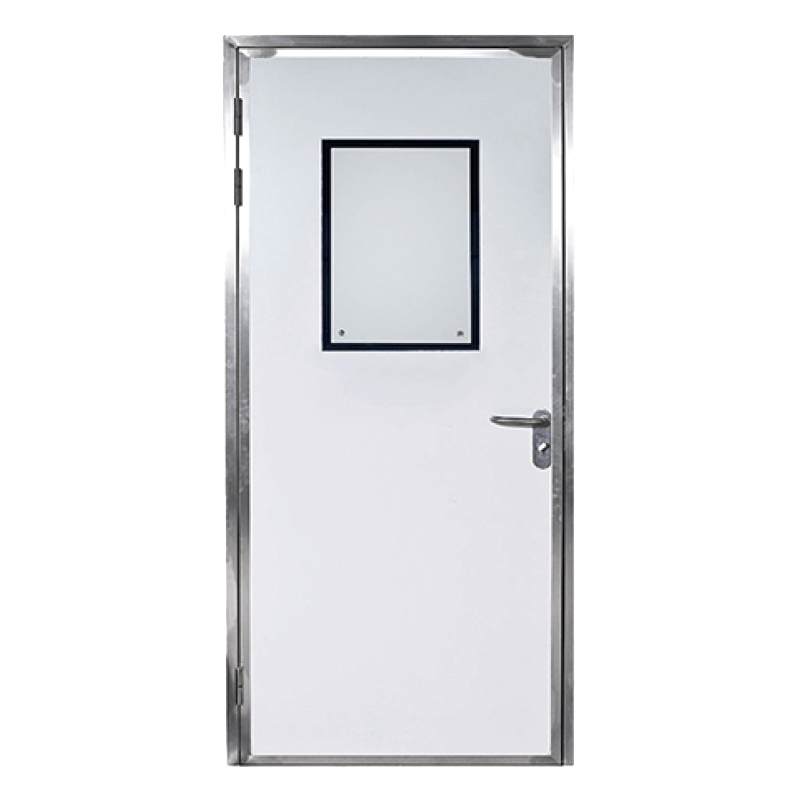 Aluminum frame single door